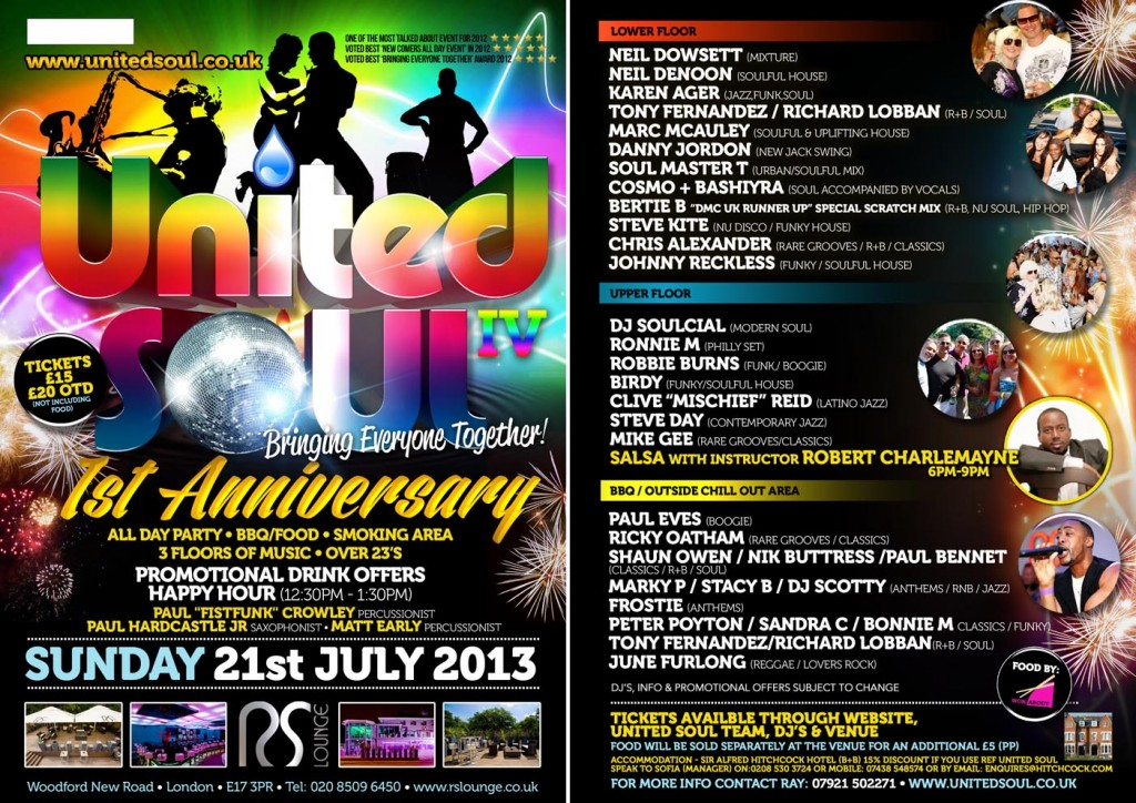 UNITED SOUL IV - FLYER